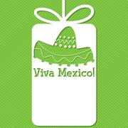Sombrero cut out tag card in vector format. - stock illustration