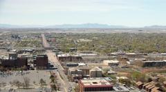 Aerial view of Salt Lake City international Airport Stock Footage