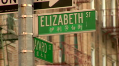 China Town New York City Elizabeth Street Arkistovideo