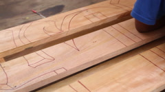 Young Artist Sketches on Wooden Pallet- PALAU Stock Footage