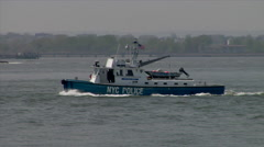 New York City Police Boat Stock Footage