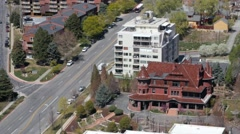 Aerial view of the city in Salt Lake Stock Footage