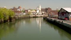 The Gowanus Canal Brooklyn New York Stock Footage