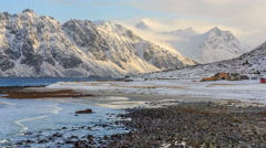 Utakleiv Beach, Norway Stock Footage