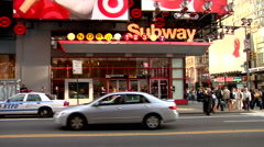 Times square subway station in NYC  Stock Footage