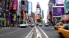 Time lapseTimes Square Center Divider Traffic People Stock Footage