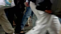 Business People Walking Commuter Travel New York City Manhattan Stock Footage