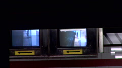 Monitors Surveillance Subway Platform 168th street - stock footage
