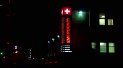Hospital St. Luke's Health Care Night Stock Footage