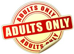Adults only sticker Stock Illustration