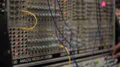 Analog modular audio system Stock Footage