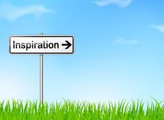 Inspiration sign Piirros