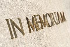 In Memoriam Inscribed In Stone Monument - stock photo