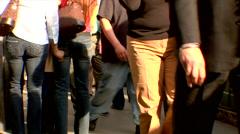 Commuters Pedestrians in Midtown Manhattan Stock Footage