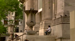 New York Public Library Stock Footage