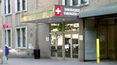 Emergency Entrance Hospital St. Luke's Health Care - stock footage