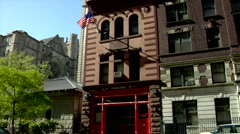 Fire Station Upper West Side Manhattan Stock Footage