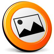 pictures icon - stock illustration