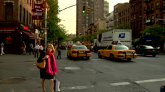 Time Lapse Seventh Avenue Commuters Residents New Yorkers Stock Footage