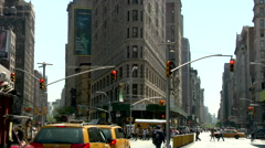 Flat Iron Building New York City Intersection Arkistovideo