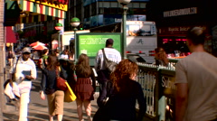Time Lapse Commuters Cars Midtown Manhattan Sixth Avenue Stock Footage