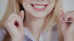 floss and smile - stock footage