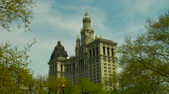 Manhattan Municipal Building Lower Manhattan New York City Stock Footage