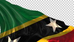 Flag o Saint Kits and Navies - stock footage