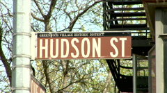 West Village Signage - stock footage