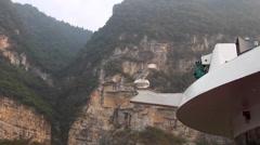 CHINA THREE GORGES DAM YANGTZE RIVER Stock Footage