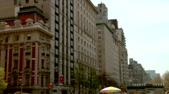 Fifth Avenue Upper East Side Apartment Buildings - stock footage