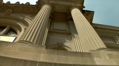 The Metropolitan Museum of Art Greek Architecture Stock Footage