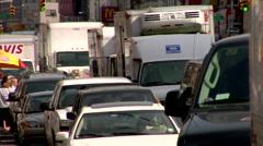 Traffic Jam Manhattan Lower Stock Footage