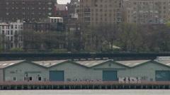 Brooklyn-Queens Expressway Piers Dock Brooklyn Stock Footage