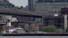 Brooklyn Heights Brooklyn Bridge Stock Footage
