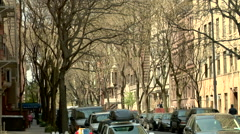 New York City Brownstones Upper West Side Stock Footage