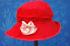 Red women´s hat. Stock Photos