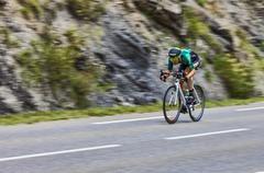 The Cyclist David Veilleux - stock photo