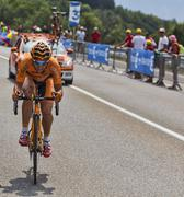 The Cyclist Juan Jose Lobato del Valle - stock photo