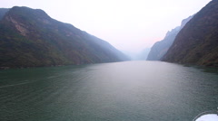 Stock Video Footage of CHINA THREE GORGES DAM YANGTZE RIVER
