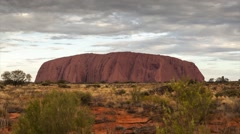 Sunset at Uluru (Ayers Rock) Stock Footage