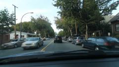 Driving on Victoria Drive approaching Venables street in Vancouver, BC. Arkistovideo