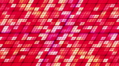 Broadcast Twinkling Slant Hi-Tech Cubes, Red, Abstract, Loopable, HD Stock Footage