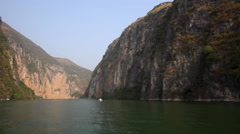CHINA LITTLE THREE GORGES DAM YANGTZE RIVER WUSHAN Stock Footage