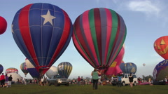 Hot air balloon event in 4K Stock Footage