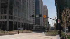 Stock Video Footage of E Timelapse of pedestrian walking across a cross walk