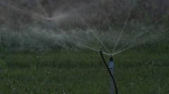 Agriculture Sprinkler Water Consumption Stock Footage