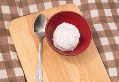 Japanese Confectionery of Ichigo Daifuku or Strawberry Mochi - stock photo