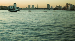 London Sunset, view of the Thames from Greenwich Stock Footage