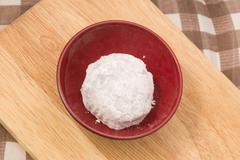 Japanese Traditional Dessert, Strawberry Mochi, Ichigo Daifuku or Japanese Ri - stock photo